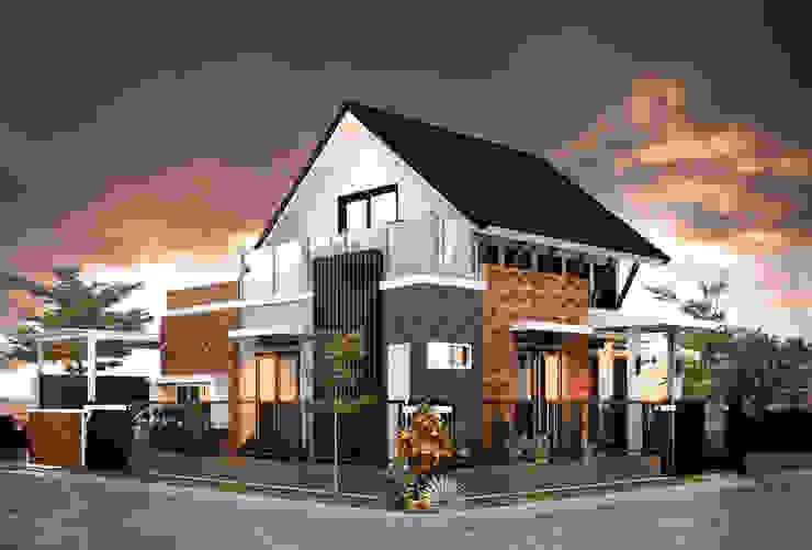 H - House Oleh Axis Citra Pama Modern Batu Bata