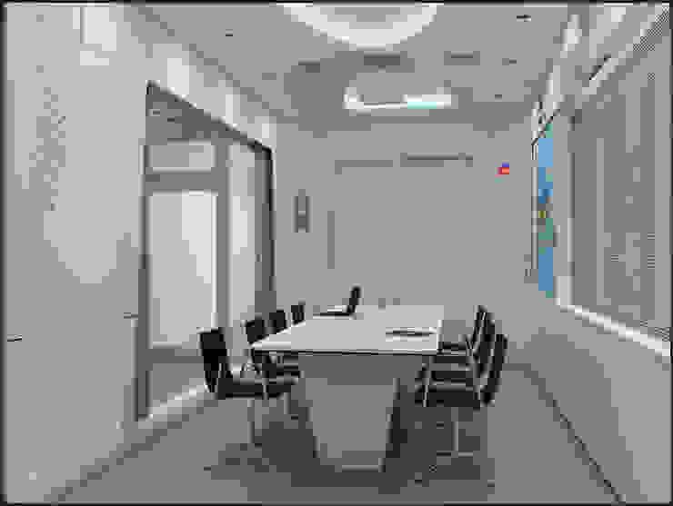 Ruang Rapat (Desain 3D) Kantor & Toko Modern Oleh Likha Interior Modern Kayu Lapis