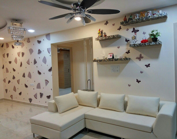 living Room Interior by Elcon Infrastructure