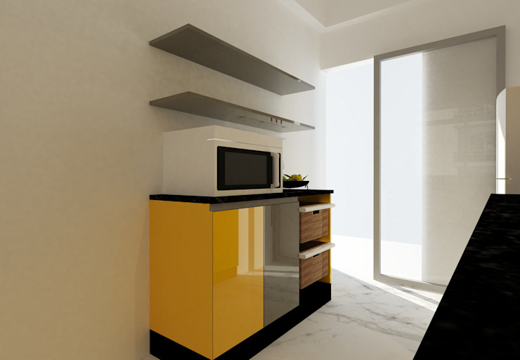 Kitchen at Regency Park | Gurgaon by Studio Square Design Co. Modern Plywood