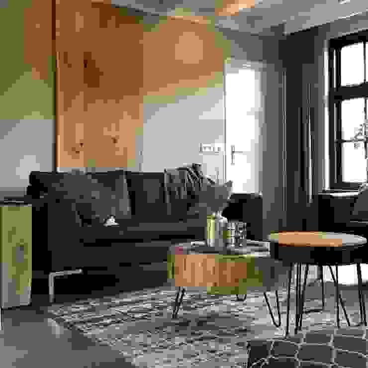 Modern Donker en Licht Industriële woonkamers van Roozen Interieur Visie Industrieel
