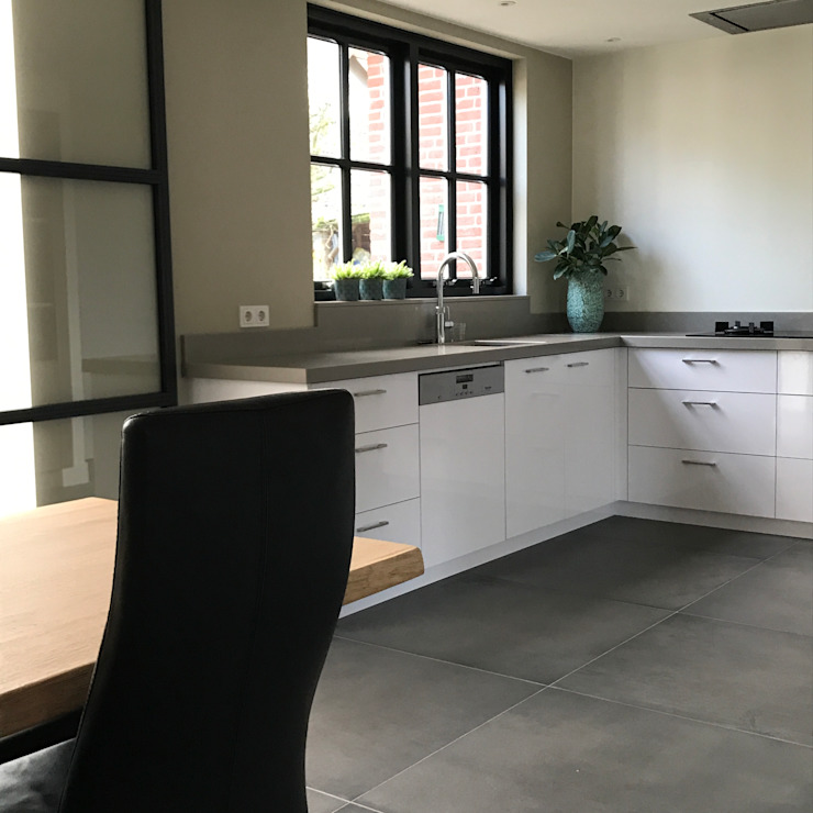 Modern Donker en Licht Industriële keukens van Roozen Interieur Visie Industrieel