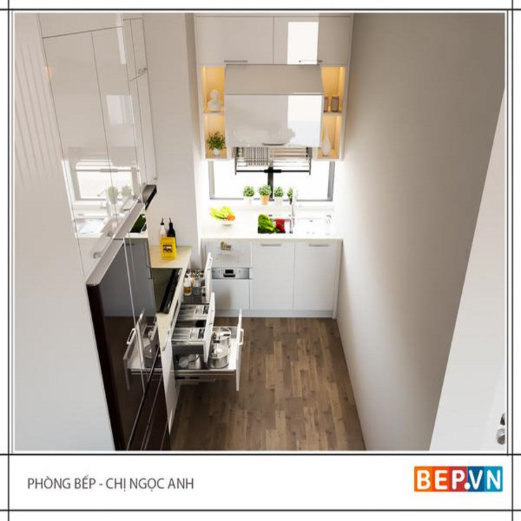 Tối ưu hóa không gian nhà bếp có diện tích hạn chế _GĐ chị Ngọc Anh. bởi bep-vn-406-Xa-dan-02462627762