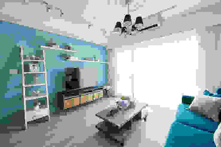 極簡法式絮語 文儀室內裝修設計有限公司 客廳