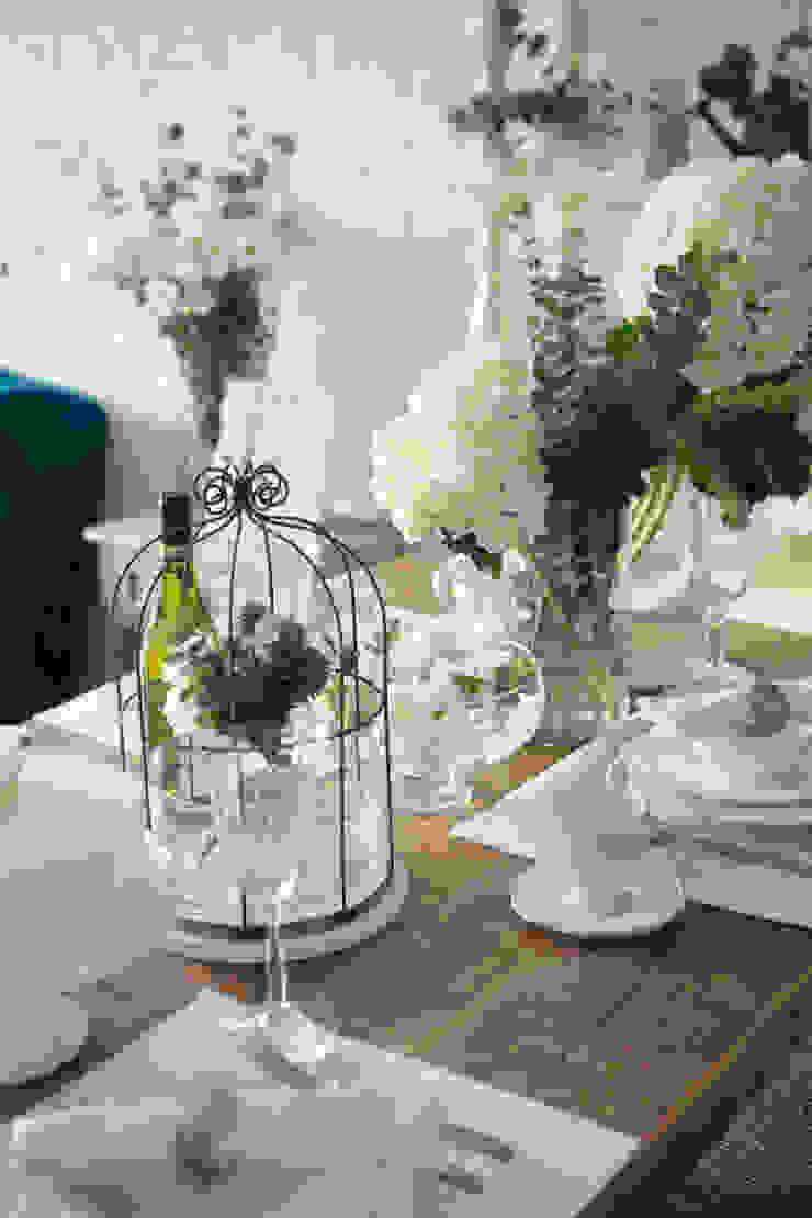 Mediterranean style dining room by 文儀室內裝修設計有限公司 Mediterranean