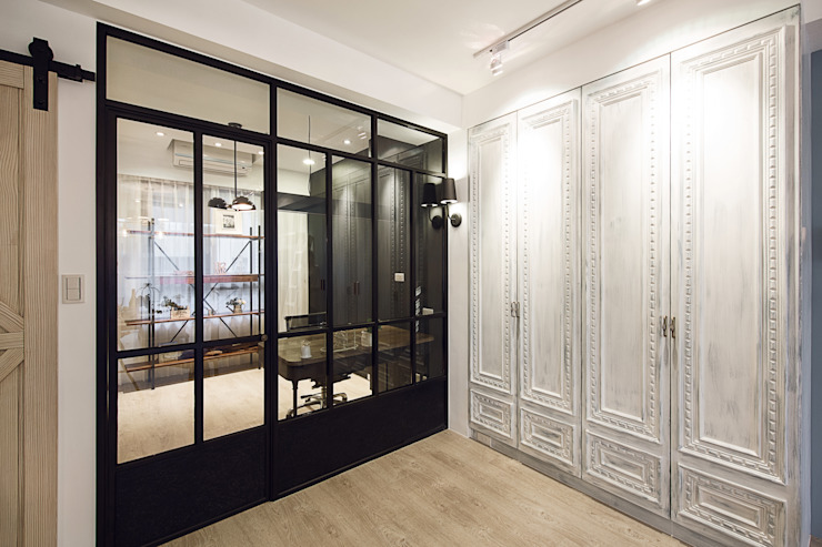 極簡法式絮語 文儀室內裝修設計有限公司 書房/辦公室