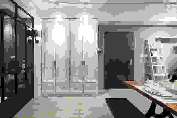 極簡法式絮語 文儀室內裝修設計有限公司 地中海走廊,走廊和楼梯