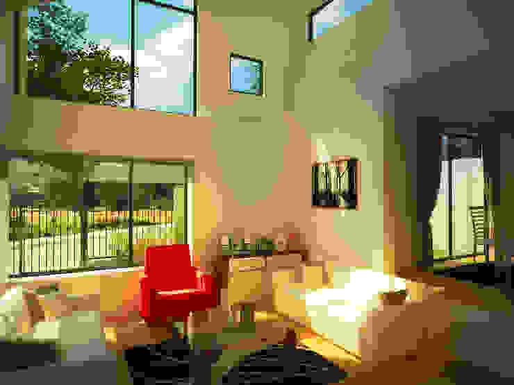 Casa Gral.Cruz Livings de estilo moderno de Lau Arquitectos Moderno