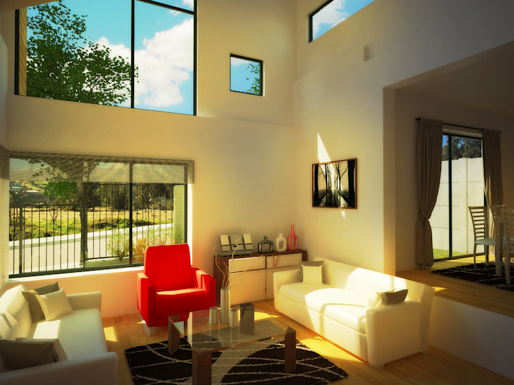 Casa Gral.Cruz Lau Arquitectos Livings de estilo moderno