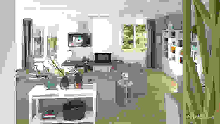 MJ Intérieurs Phòng khách Grey