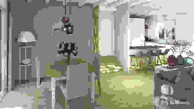 MJ Intérieurs Phòng ăn phong cách chiết trung Green
