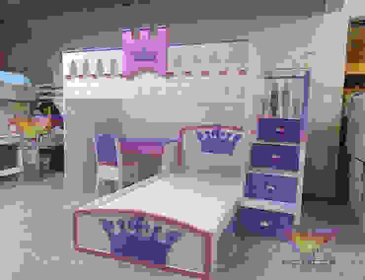 Preciosa litera juvenil estilo princesas de camas y literas infantiles kids world Clásico Derivados de madera Transparente