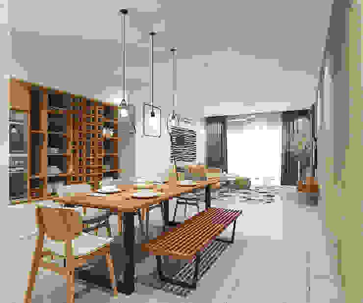 Phòng ăn phong cách Bắc Âu bởi Verde Design Lab Bắc Âu