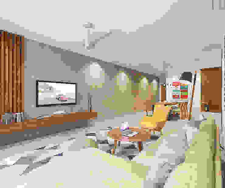 Phòng khách phong cách Bắc Âu bởi Verde Design Lab Bắc Âu