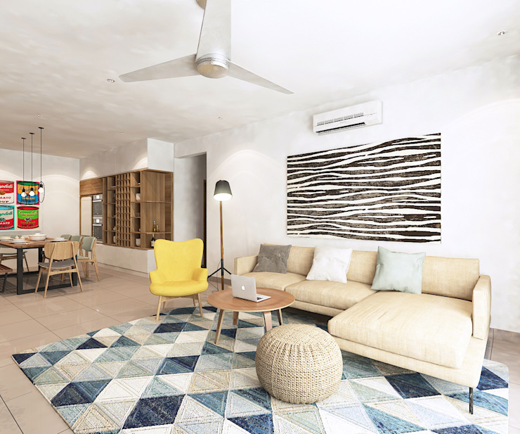 Living Room by Verde Design Lab Scandinavian