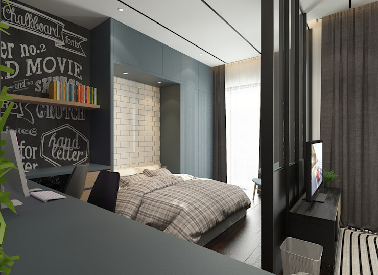 Master Bedroom Verde Design Lab Rustic style bedroom