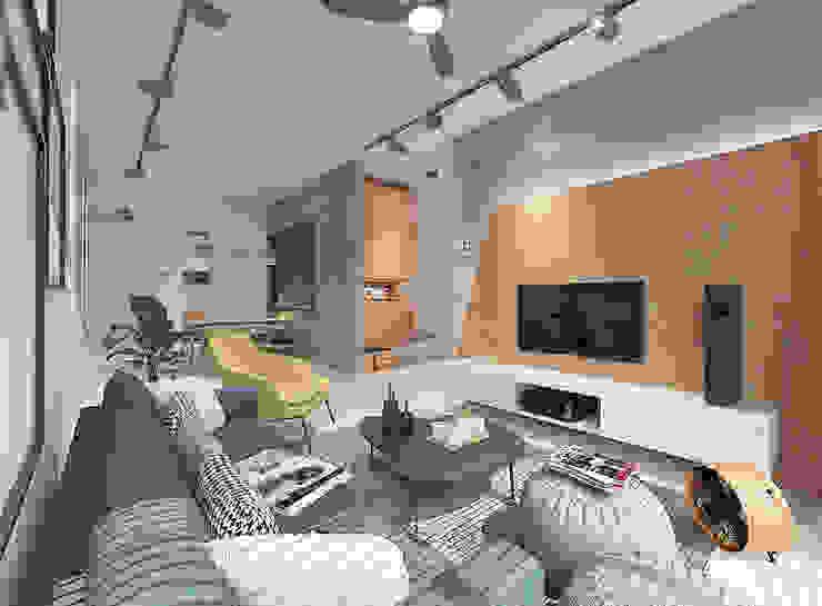 Phòng khách phong cách mộc mạc bởi Verde Design Lab Mộc mạc