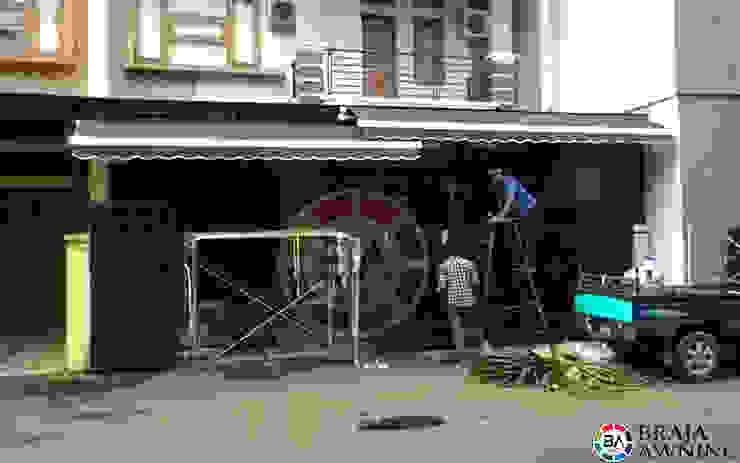 Awning Gulung Jakarta (Rumah Pribadi):modern  oleh Braja Awning & Canopy, Modern Tekstil Amber/Gold