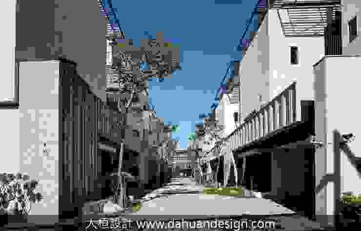 如同帽沿的建築頂面 根據 大桓設計顧問有限公司 現代風 大理石