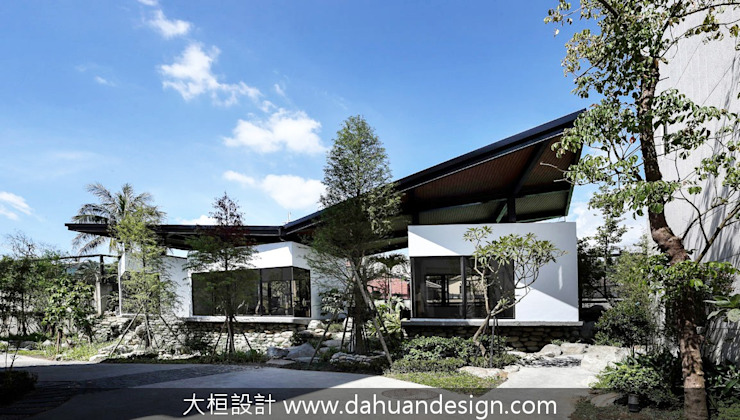 綠意交錯的生活風景 根據 大桓設計顧問有限公司 現代風 大理石