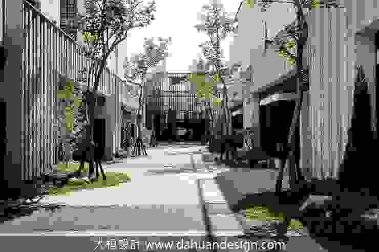 喬灌木畫出公私領域的分界 根據 大桓設計顧問有限公司 現代風 大理石