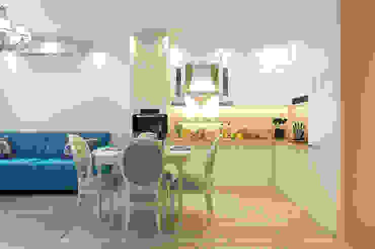 Кухня-гостиная: Гостиная в . Автор – Гузалия Шамсутдинова | KUB STUDIO, Классический