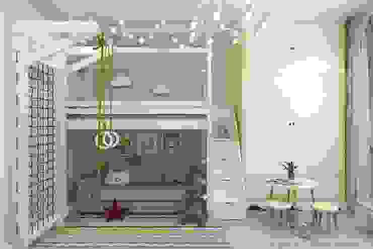 Minimalist nursery/kids room by Гузалия Шамсутдинова | KUB STUDIO Minimalist