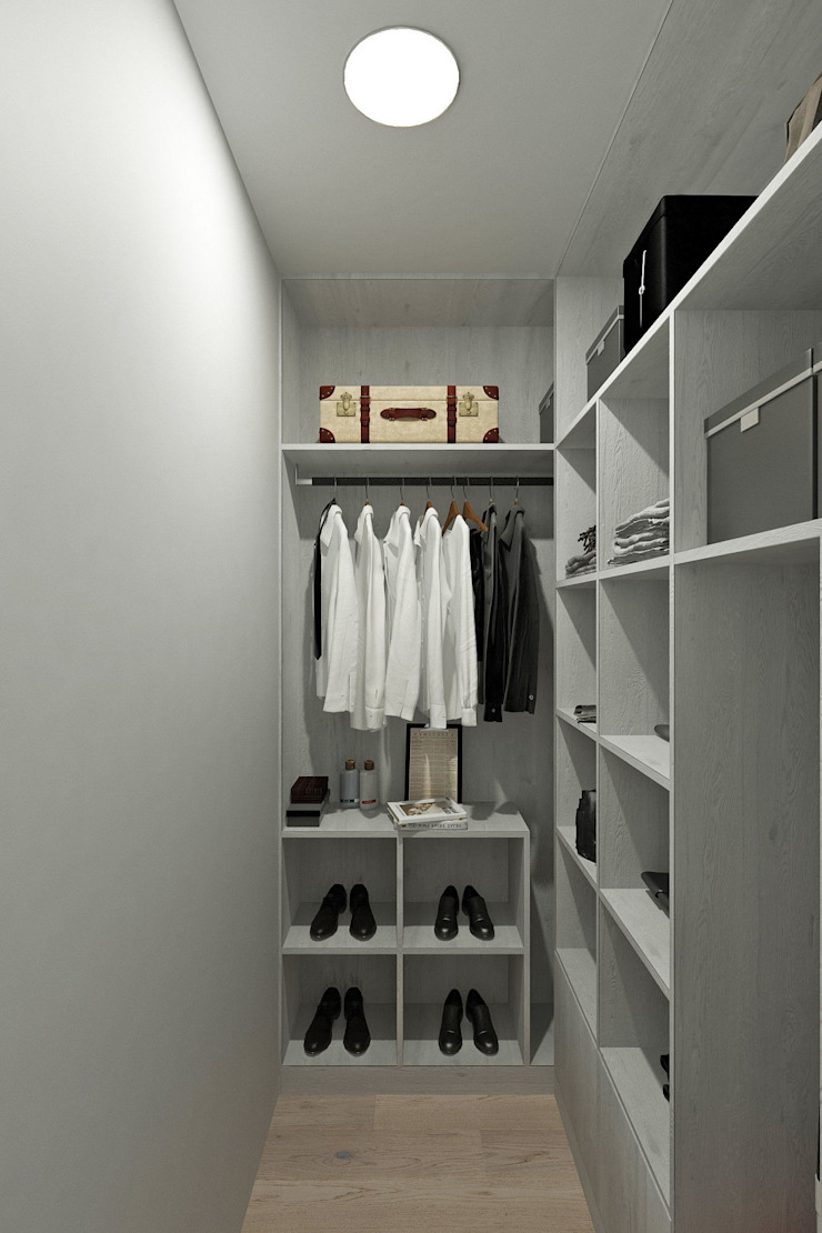 Minimalist dressing room by Гузалия Шамсутдинова   KUB STUDIO Minimalist