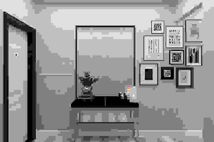 Minimalist corridor, hallway & stairs by Гузалия Шамсутдинова   KUB STUDIO Minimalist