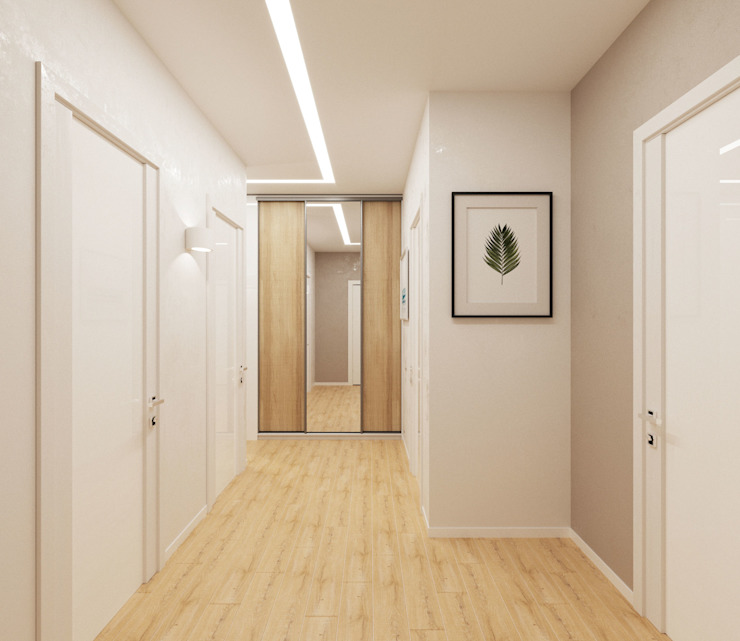 Modern Corridor, Hallway and Staircase by Гузалия Шамсутдинова | KUB STUDIO Modern