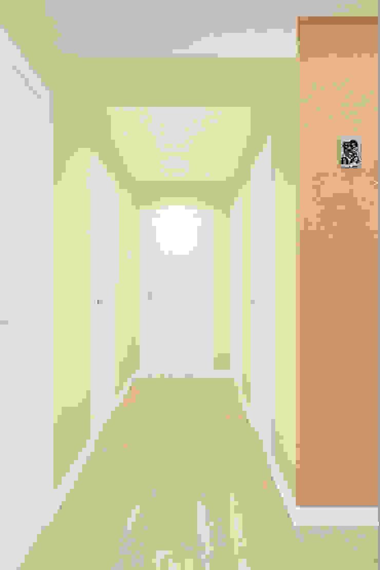 Classic style corridor, hallway and stairs by Гузалия Шамсутдинова | KUB STUDIO Classic
