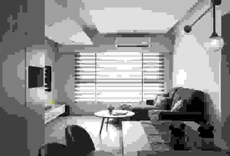 Living room 根據 湜湜空間設計 簡約風 複合木地板 Transparent