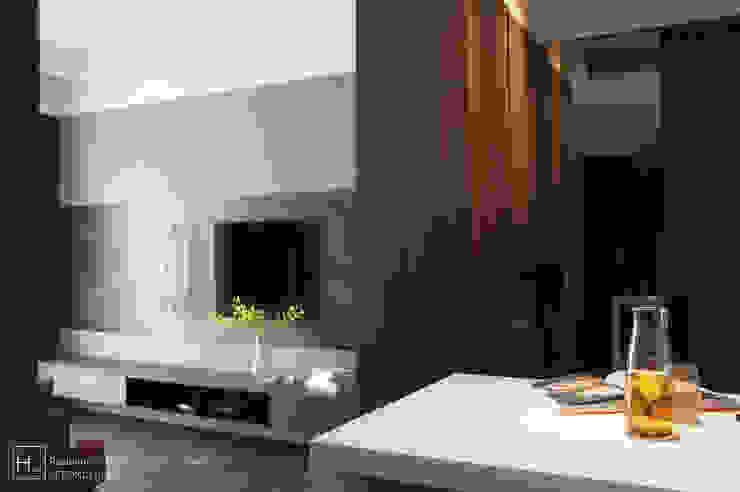 客廳 / Living room 現代風玄關、走廊與階梯 根據 SECONDstudio 現代風