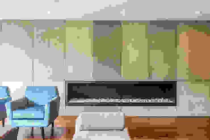 Salon minimaliste par ARCE S.A.S Minimaliste Béton