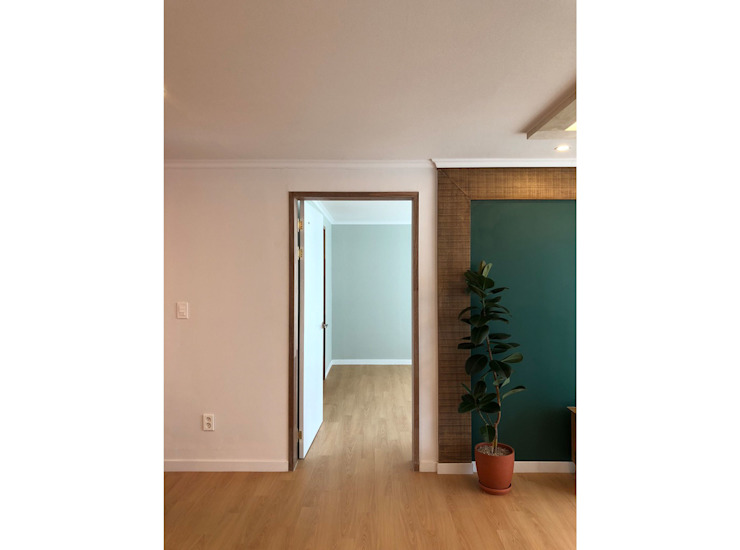 용산구 문배동 지오베르크 (주상복합) 33평 모던스타일 거실 by 덴보드 모던