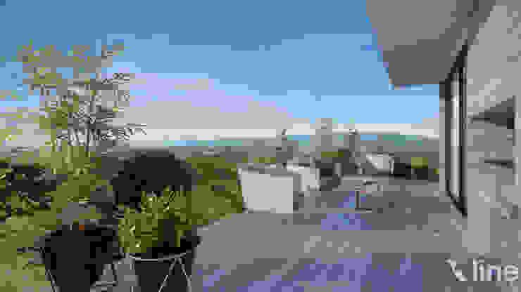 Mil Nueve Diez - Cobitat: Terrazas de estilo  por Xline 3D,Minimalista