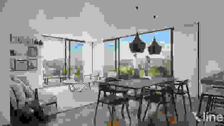 Xline 3D Minimalist dining room
