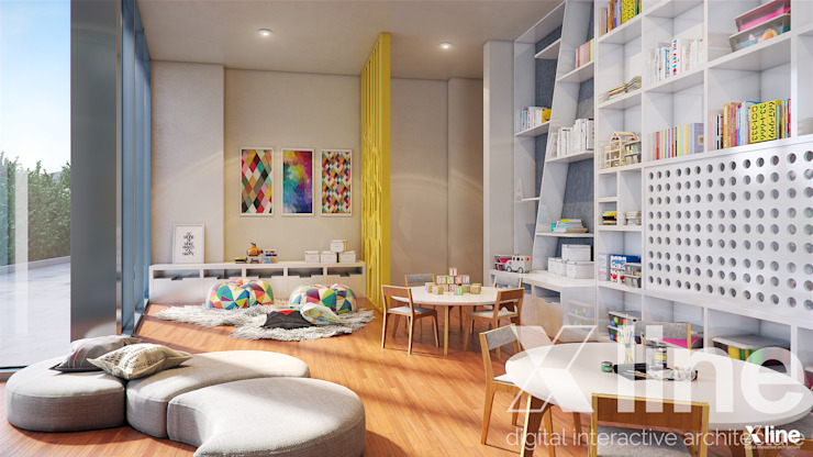 One 88 by Xline 3D Modern Kid's Room by Xline 3D Digital Architecture Modern