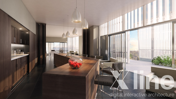 One 88 by Xline 3D Modern Dining Room by Xline 3D Digital Architecture Modern