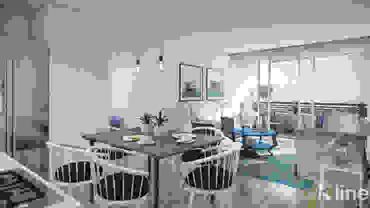 Altos de Puyai by Xline 3D Modern Dining Room by Xline 3D Digital Architecture Modern