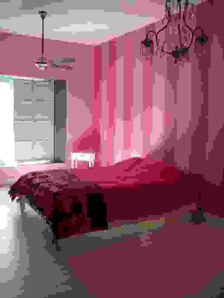 ラスティックスタイルの 寝室 の Estudio Dillon Terzaghi Arquitectura - Pilar ラスティック 石灰岩