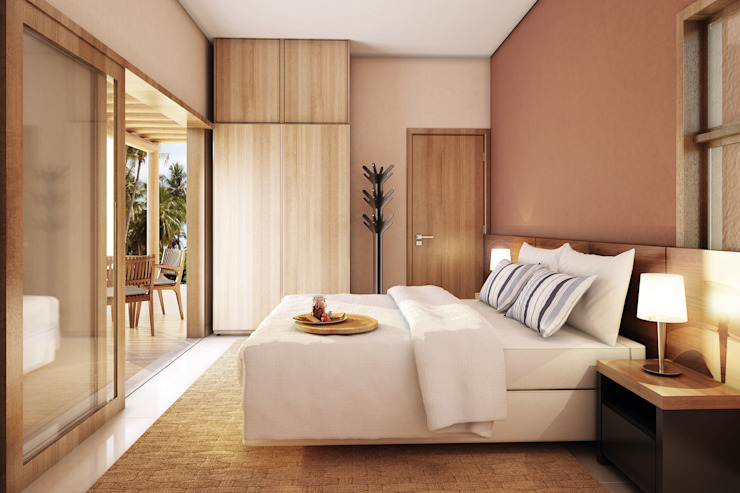 Quartos tropicais por Mutabile Arquitetura Tropical