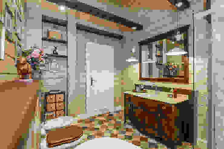 Country style bathroom by 'Студия дизайна Марины Кутеповой' Country Wood Wood effect