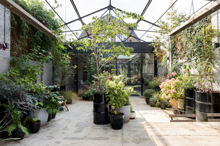 East Dulwich Industrial Conversion Imperfect Interiors Industrial style garden