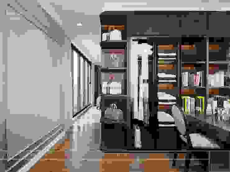 Thiết kế nội thất Tân Cổ Điển cao cấp Luxury 6 Vinhomes Golden River Phòng thay đồ phong cách kinh điển bởi ICON INTERIOR Kinh điển