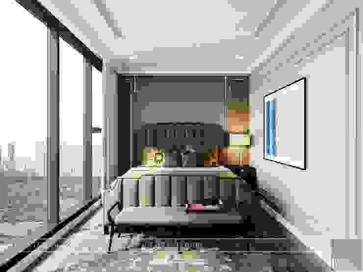 Thiết kế nội thất Tân Cổ Điển cao cấp Luxury 6 Vinhomes Golden River Phòng ngủ phong cách kinh điển bởi ICON INTERIOR Kinh điển