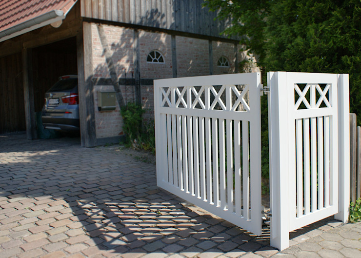 Nordzaun Jardines en la fachada Aluminio/Cinc Blanco