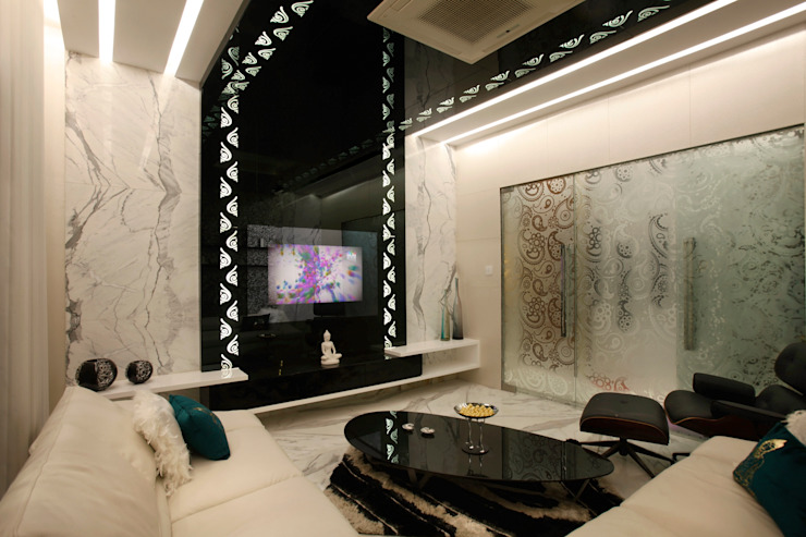 Mr Anil nahata's bungalow Innerspace Modern living room