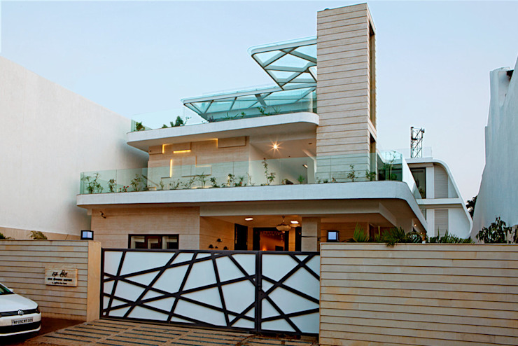 Indra hira bungalow Modern houses by Innerspace Modern