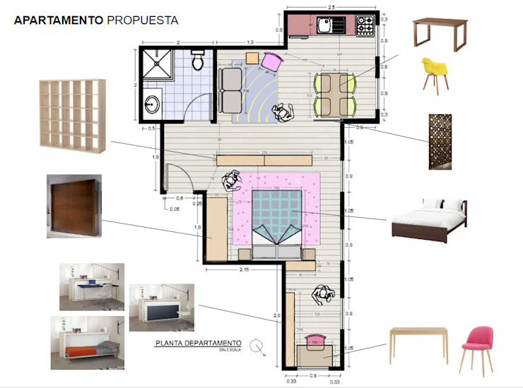 Diseño Interiores Departamento - Toronto Canada Super A Studio